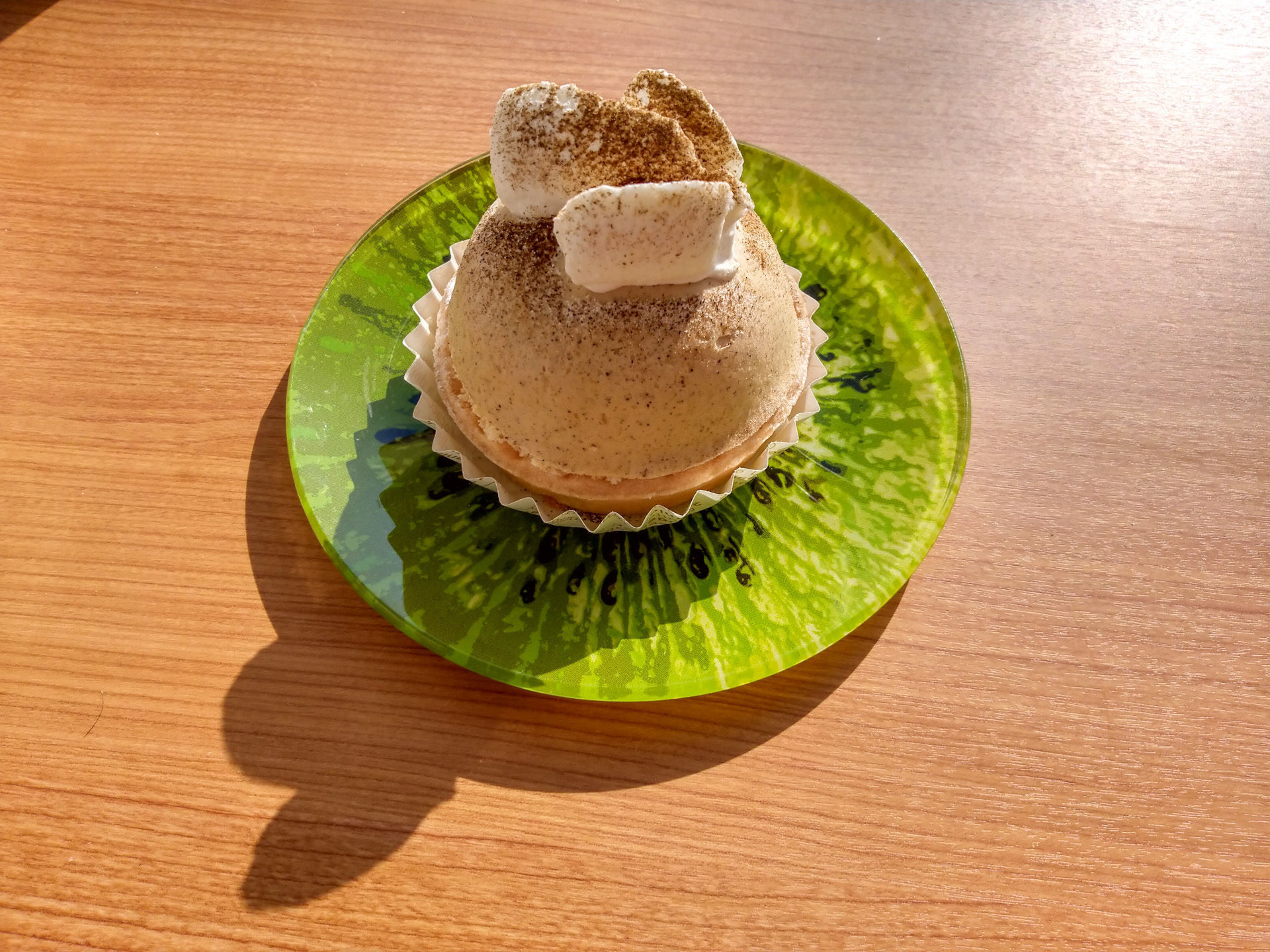 不二家の「石川県産加賀棒ほうじ茶のチーズタルト」